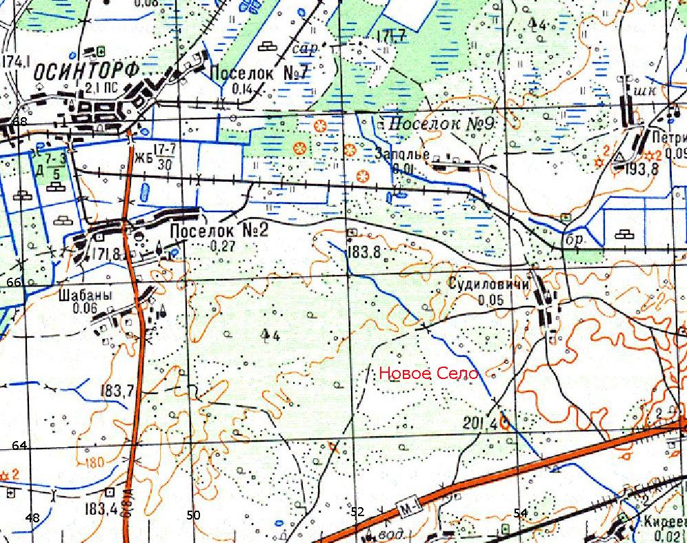 Современная карта района